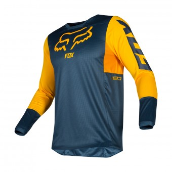 Maillot Cross FOX 180 Przm Navy Jaune