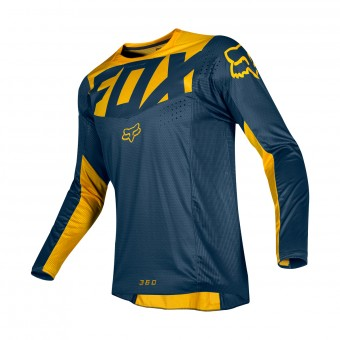 Maillot Cross FOX 360 Kila Navy Jaune