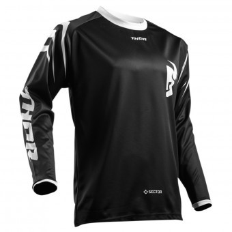 Maillot Cross Thor Sector Zones Black Enfant