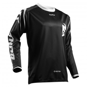 Maillot Cross Thor Sector Zones Black