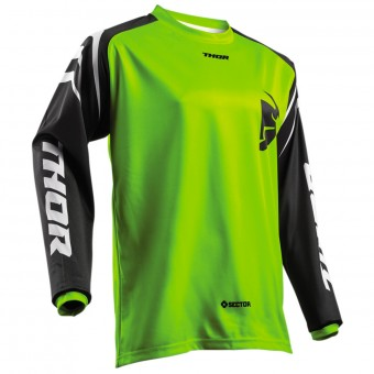 Maillot Cross Thor Sector Zones Lime