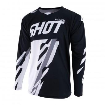 Maillot Cross SHOT Contact Score Noir Blanc