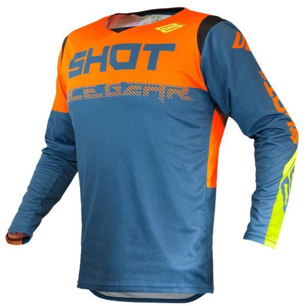 Maillot Cross SHOT Contact Trust Deep Blue Neon Orange