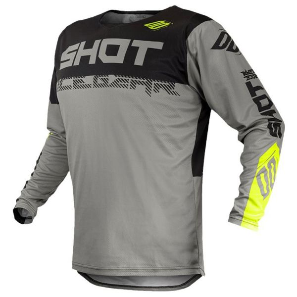 Maillot Cross SHOT Contact Trust Grey Neon Yellow