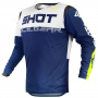 Maillot Cross SHOT Contact Trust Navy Blue White