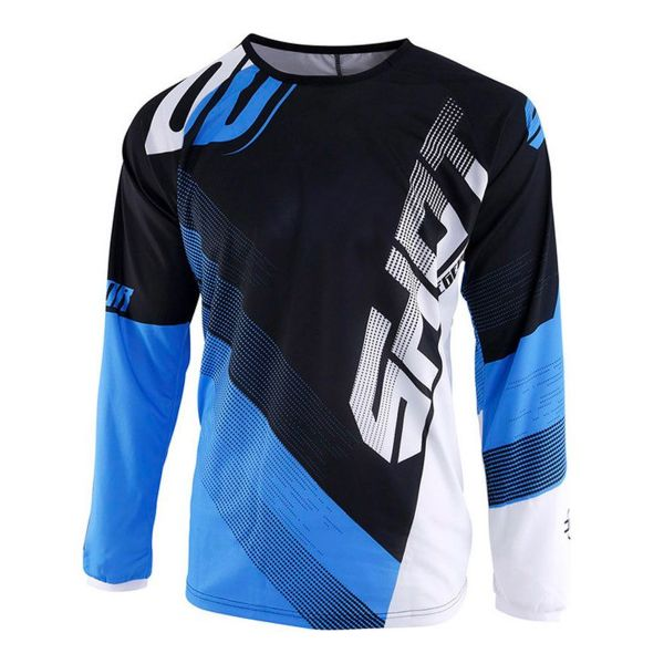 Maillot Cross SHOT Devo Ultimate Noir Cyan Enfant