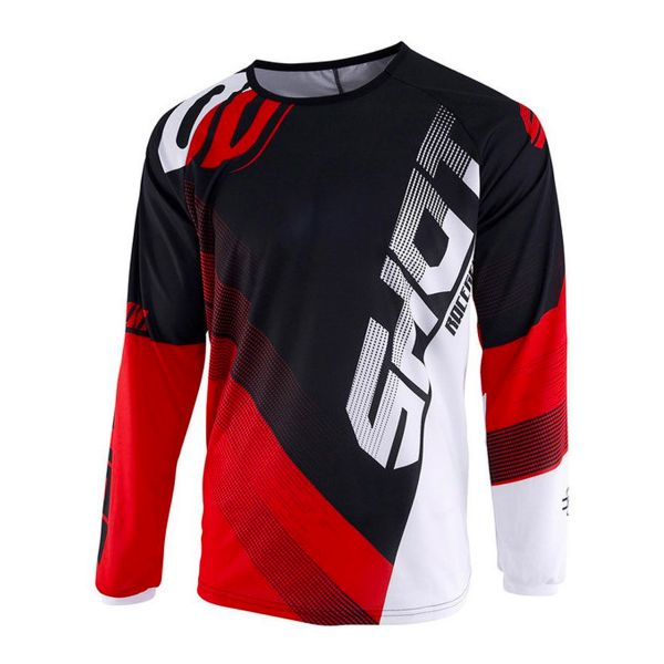 Maillot Cross SHOT Devo Ultimate Noir Rouge Enfant