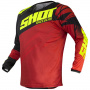 Maillot Cross SHOT Devo Ventury Black Red Neon Yellow Kid