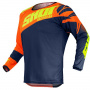 Maillot Cross SHOT Devo Ventury Dark Blue Neon Orange Yellow Kid
