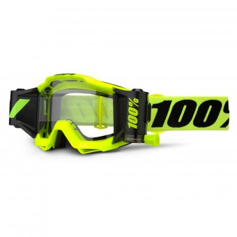 Masque Cross 100% Accuri Forecast Fluo Yellow Clear Lens
