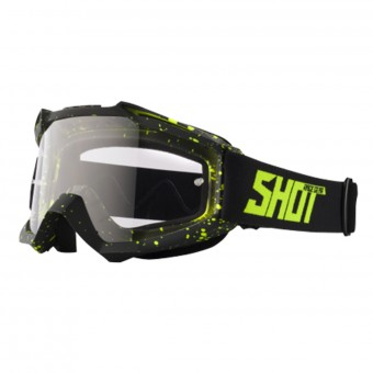 Masque Cross SHOT Assault Drop Neon Yellow Matt