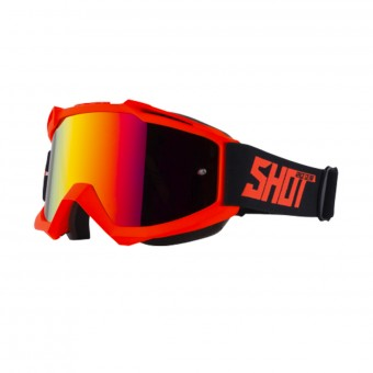 Masque Cross SHOT Iris Neon Orange Matt Iridium Red