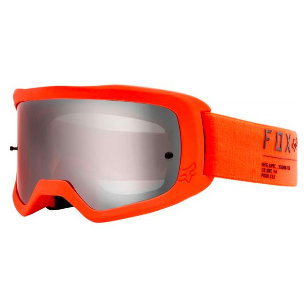Masque Cross FOX Main II Gain Fluo Orange Chrome Mirror Lens
