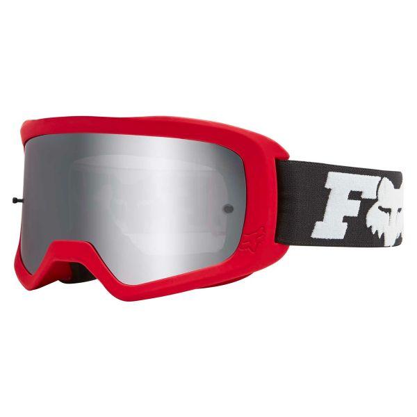 Masque Cross FOX Main II Linc Flame Red Chrome Mirror Lens