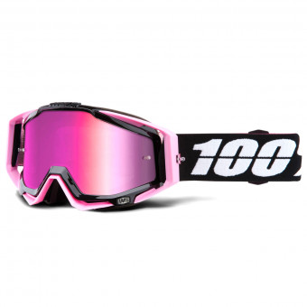 Masque Cross 100% Racecraft Floyd Mirror Pink Lens