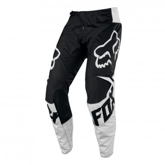 Pantalon Cross FOX 180 Race Black White Pant Enfant 001
