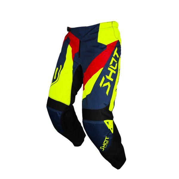 Pantalon Cross SHOT Devo Alert Blue Red Neon Yellow Pant
