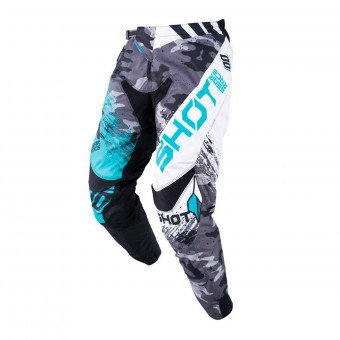 Pantalon Cross SHOT Contact Counter Blanc Vert Pant