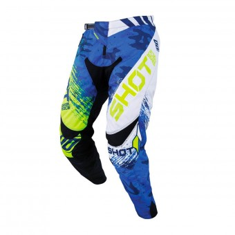 Pantalon Cross SHOT Contact Counter Bleu Neon Jaune Pant