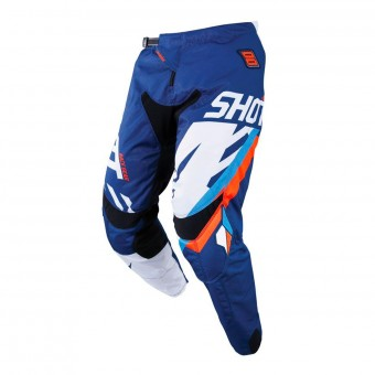 Pantalon Cross SHOT Contact Score Bleu Neon Orange Pant