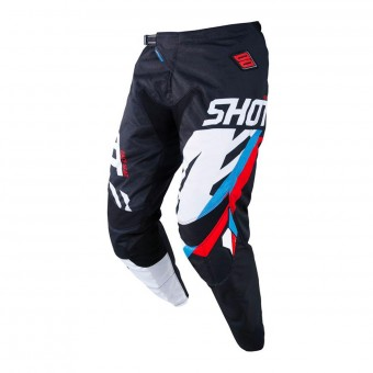 Pantalon Cross SHOT Contact Score Noir Bleu Rouge Pant