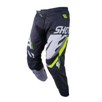 Pantalon Cross SHOT Contact Score Noir Gris Neon Jaune Pant
