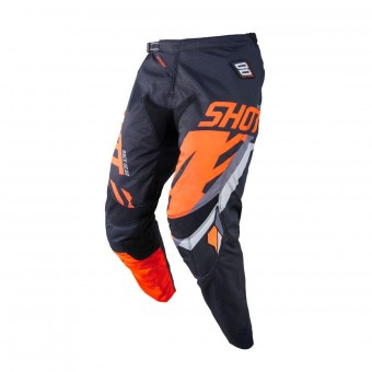 Pantalon Cross SHOT Contact Score Noir Neon Orange Pant