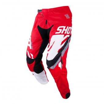 Pantalon Cross SHOT Contact Score Rouge Blanc Pant
