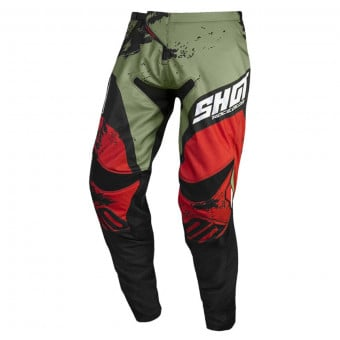 Pantalon Cross SHOT Contact Shadow Kaki Red Pant