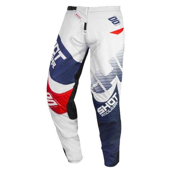 Pantalon Cross SHOT Contact Trust Blue Red Pant