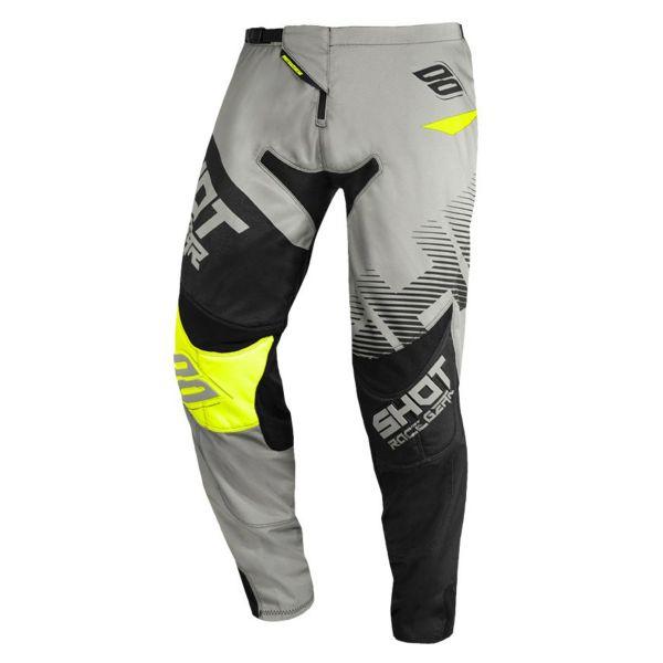 Pantalon Cross SHOT Contact Trust Grey Neon Yellow Pant