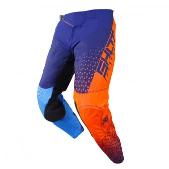 Pantalon Cross SHOT Delta Bleu Neon Orange Pant
