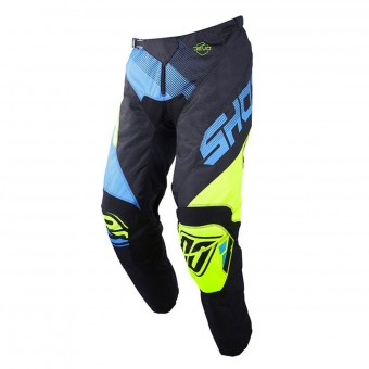 Pantalon Cross SHOT Devo Ultimate Bleu Neon Jaune Pant Enfant