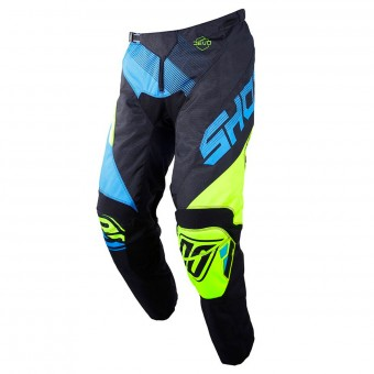 Pantalon Cross SHOT Devo Ultimate Bleu Neon Jaune Pant