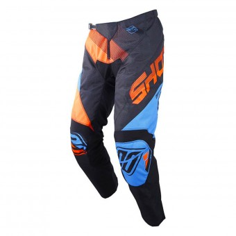 Pantalon Cross SHOT Devo Ultimate Bleu Neon Orange Pant Enfant