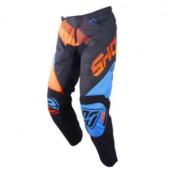 Pantalon Cross SHOT Devo Ultimate Bleu Neon Orange Pant