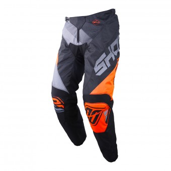 Pantalon Cross SHOT Devo Ultimate Noir Neon Orange Pant Enfant