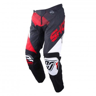 Pantalon Cross SHOT Devo Ultimate Noir Rouge Pant Enfant