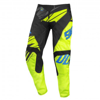 Pantalon Cross SHOT Devo Ventury Black Cyan Neon Yellow Pant Kid