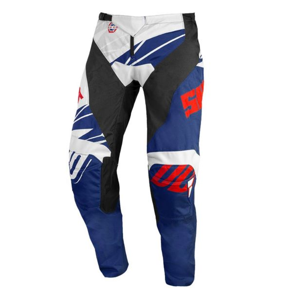 Pantalon Cross SHOT Devo Ventury Blue Red Pant Kid