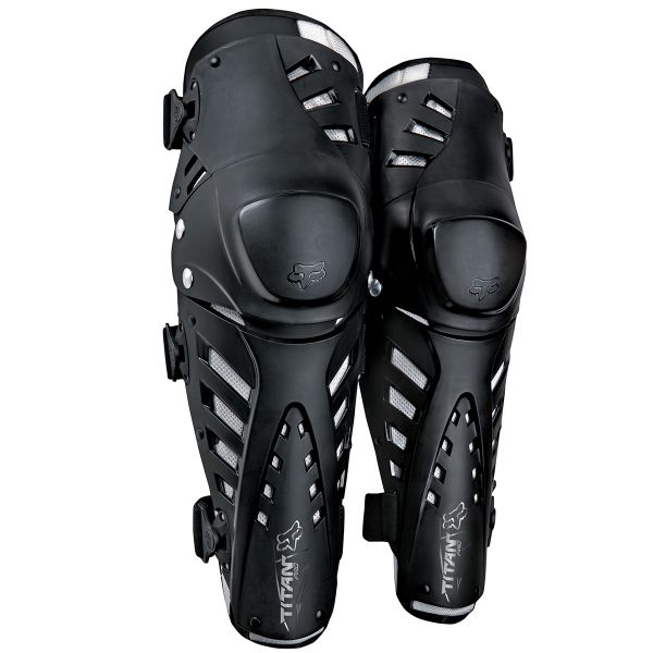 Genouilleres Cross FOX Titan Pro Knee Black