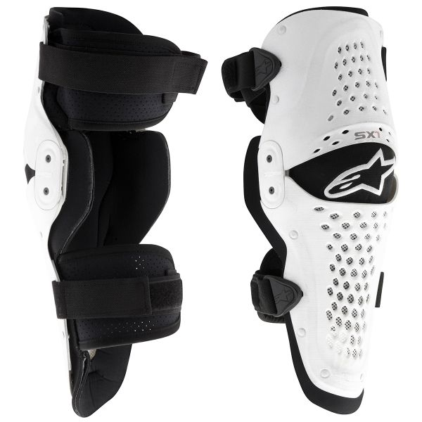 Genouilleres Cross Alpinestars SX 1 Knee White Black