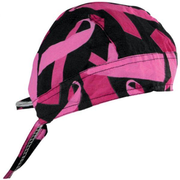 Bandanas Zanheadgear Flydanna Black Pink Ribbon