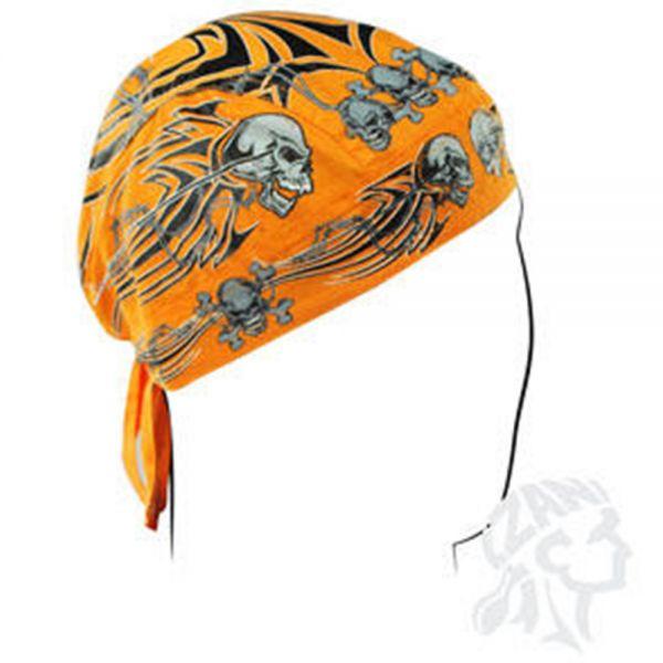 Bandanas Zanheadgear Flydanna Orange Tribal Skull