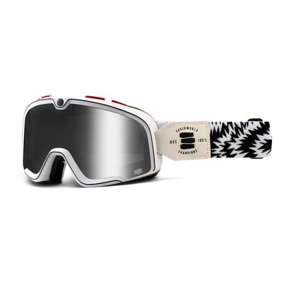masque moto 100 barstow death spray blue lens en stock. Black Bedroom Furniture Sets. Home Design Ideas