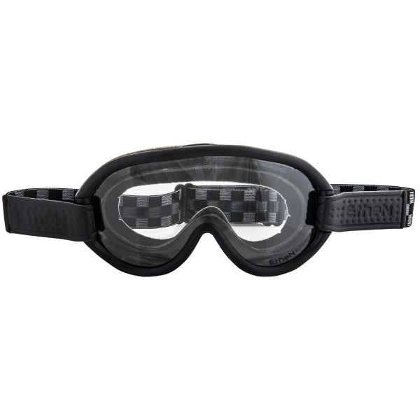Masque Moto Ethen Scrambler Damier Noir