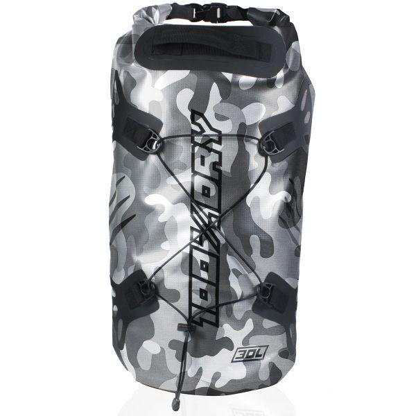 Sac a dos Moto Darts Tube 100% Dry 30L Camo Grey
