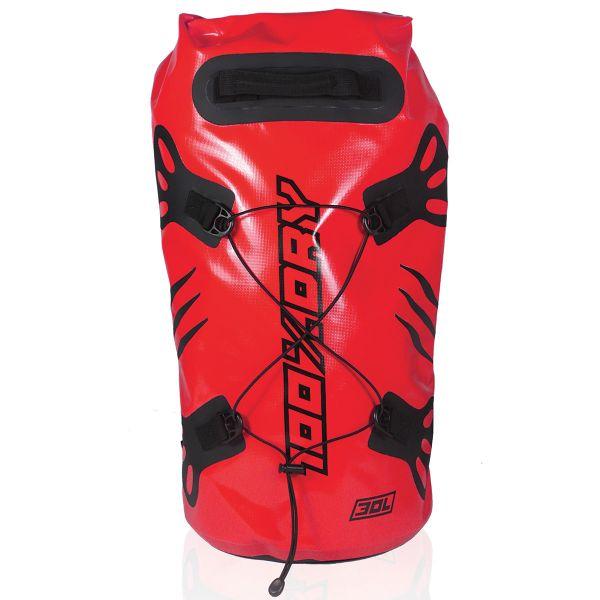 Sac a dos Moto Darts Tube 100% Dry 30L Red