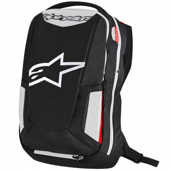 Sac a dos Moto Alpinestars City Hunter Backpack Black White Red