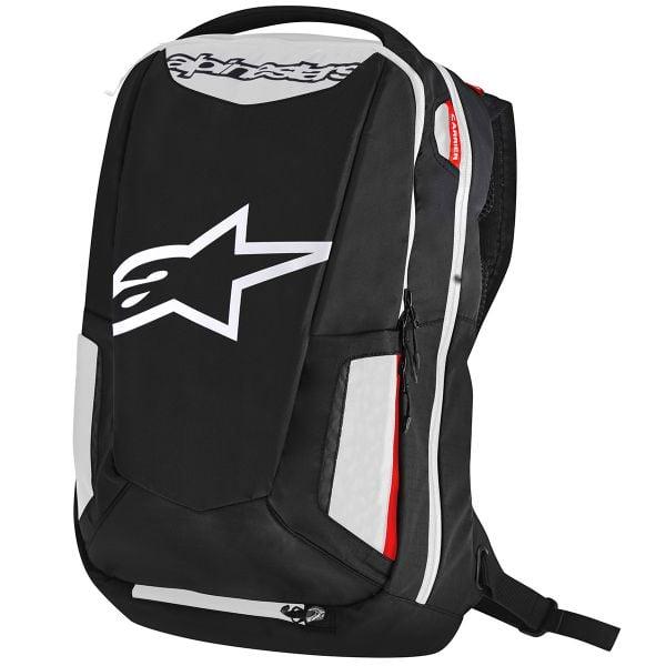 Sac a dos Moto Alpinestars City Hunter Backpack Black White Red